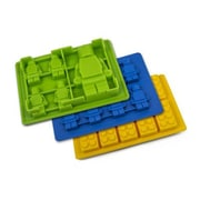 BargainRollback 3 Piece Non-Stick Robot and Building Blocks Silicone Mold Set