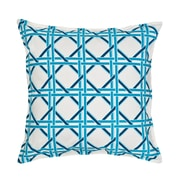 Greendale Home Fashions Cane Cotton Canvas Throw Pillow; Turquoise