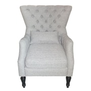 AdecoTrading Fabric Arm Chair; Silver