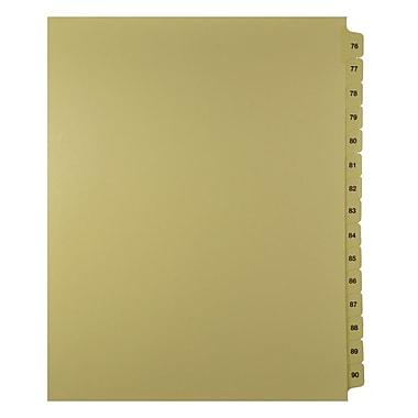 Mark Maker – Onglets séparateurs juridiques beiges, 1/15 onglets, format lettre, sans trous, numéros 76 à 90