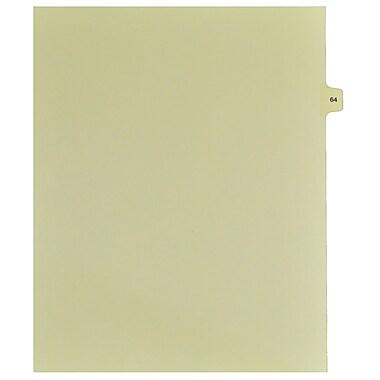 Mark Maker – Onglets séparateurs juridiques beiges, 1/15 onglets, format lettre, sans trous, numéro 64, 25/paquet