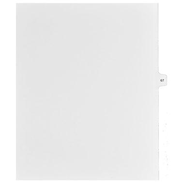 Mark Maker – Onglets séparateurs juridiques blancs, 1/15 onglets, format lettre, sans trous, numéro 67, 25/paquet