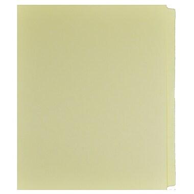 Mark Maker – Ensemble d'onglets séparateurs juridiques beiges, 1/25 onglets, format lettre, sans trous, vierges