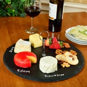 Picnic At Ascot Selva Round Slate Cheese Tray