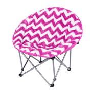 Three Cheers For Girls! Chevron Moon Kids Novelty Chair; Pink