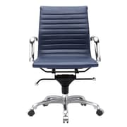 Meelano Leather Executive Office Chair; Navy Blue