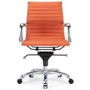 Meelano Leather Executive Office Chair; Orange