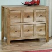 Sauder Dakota Pass Console Table; Craftsman Oak
