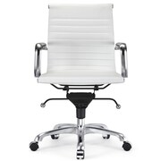 Meelano Vegan Leather Executive Office Chair; White