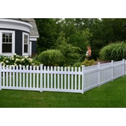 Zippity Outdoor Products Newport 3' x 5.9' Picket Yard Fence