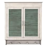 MCSIndustries Louvered Cabinet; White / Green