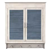 MCSIndustries Louvered Cabinet; White / Indigo