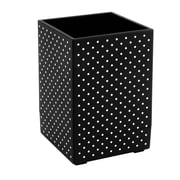 Insten Soft Touch Pen/Pencil/Ruler Holder/Cup Stationery/Desktop Organizer, Black with White Dot (2174118)