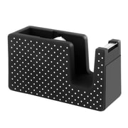 "Insten Desktop Tape Dispenser Soft Touch, 1""W Core, Black with White Dot (2174120)"