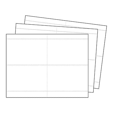 Kostklip® Perforated Sign and Label Paper, 3.5