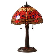Warehouse of Tiffany Dragonfly Elegant Table Lamp with Bowl Shade