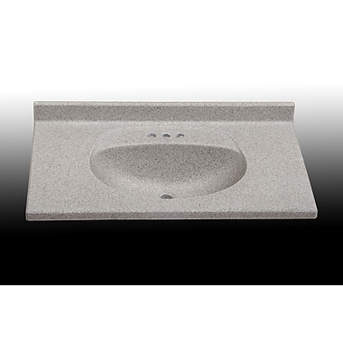 Satin Stone Olympic 37'' Single Bathroom Vanity Top