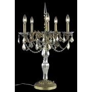 Elegant Lighting Monarch 28'' H Table Lamp w/Novelty Shade; French Gold / Smoky / Strass Swarovski