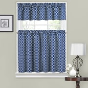 Traditions by Waverly Ellis 56'' Valance and Tier Set; Indigo