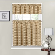 Traditions by Waverly Ellis 56'' Valance and Tier Set; Natural