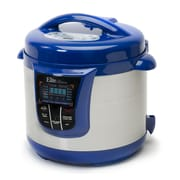 Elite by Maxi-Matic Bistro 8-Quart Electric Stainless Steel Pressure Cooker; Blue