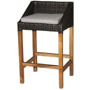 Jeffan Swooped 22'' Bar Stool with Cushion