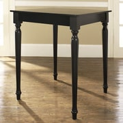 Crosley Turned Leg Counter Height Pub Table; Black