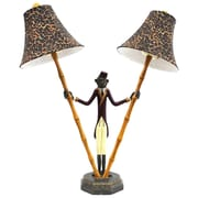 Selectives Bellhop Monkey 25'' H Table Lamp with Bell Shade