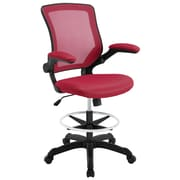 Modway Veer Drafting Chair with Footring; Red