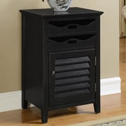 Coast to Coast Imports Magruder 1 Door and 2 Drawer Cabinet; Black