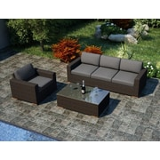 Harmonia Living Arden 3 Piece Sofa Set with Cushions; Canvas Charcoal