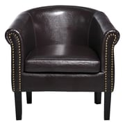 HomCom Elegant Club Chair; Brown