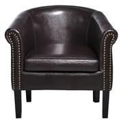HomCom Elegant Barrel Chair; Brown