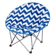 Three Cheers For Girls! Chevron Moon Kids Novelty Chair; Blue