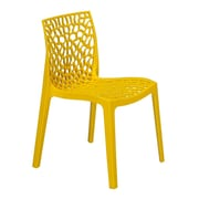 Grandsoleil Stacking Dining Side Chair (Set of 2); Brilliant Yellow