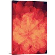Artzee Designs Modern Red Flower Wall Art on Wrapped Canvas; 20'' H x 16'' W x 0.75'' D