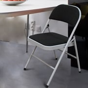 AdecoTrading Tubular Steel Folding Chair (Set of 2)