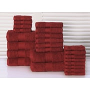 Affinity Linens 24 Piece Towel Set; Biking Red