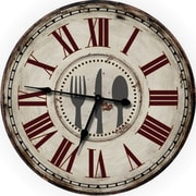 Nora Lane Country Decor Fork, Knife and Spoon 24.5'' Wall Clock