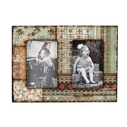 M Home Decor Shabby Elegance Twin Wood Picture Frame