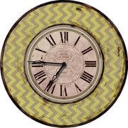M Home Decor Shabby Elegance Chevron 24.5'' Wall Clock; Yellow