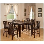 Hazelwood Home Counter Height Extendable Dining Table