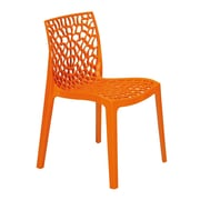 Grandsoleil Upon Gruvyer Armless Stacking Chair (Set of 2); Orange