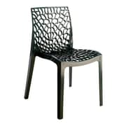 Grandsoleil Stacking Dining Side Chair (Set of 2); Anthracite