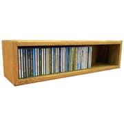 Wood Shed Multimedia Storage Rack; 6.75'' H x 26.87'' W x 6.75'' D