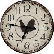 M Home Decor Country Decor 24.5'' Chicken Wall Clock