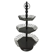 M Home Decor French Country Decor 3 Tiered Stand