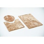 Persian-rugs 3 Piece Bath Rug Set; Beige