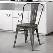 AdecoTrading Dining Chair (Set of 2); Gray