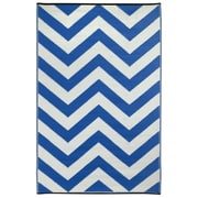 Fab Rugs Laguna Regatta Blue World Indoor/Outdoor Rug; 3' x 5'